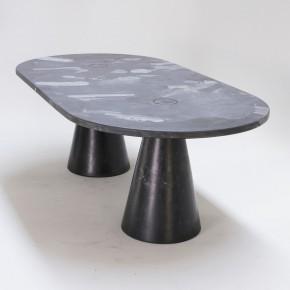 TWO LEGGED MELTING POT TABLE